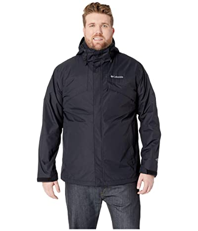Columbia Big Tall Bugabootm II Fleece Interchange Jacket (Black/Charcoal Heather) Men