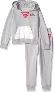 Juicy Couture Girls' 2 Pieces Hoody Pants Set