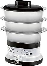 Seb VC134800 Cuiseur Vapeur 3 Bols Mini Compact Digital Noir/Blanc 550 W