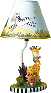 Fantasy Fields - Sunny Safari Animals Thematic Kids Table Lamp | Imagination Inspiring Hand Painted Details Non-Toxic, Lead Free Water-based Paint