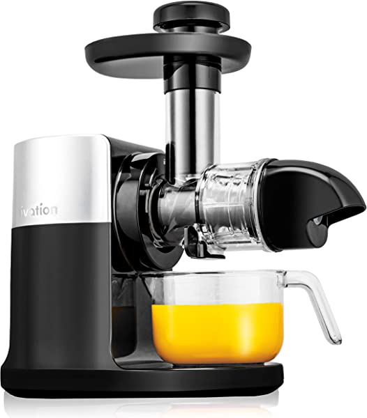 Ivation Slow Masticating Juicer Machine High Yield Nutrient Juice Extractor Cold Press Healthy Fruit Vegetables BPA Free Easy To Clean With Quiet 70 RPM Motor And With Reverse Function