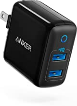 Anker Dual USB Wall Charger, PowerPort II 24W, Ultra-Compact Travel Charger with PowerIQ Technology and Foldable Plug, for...