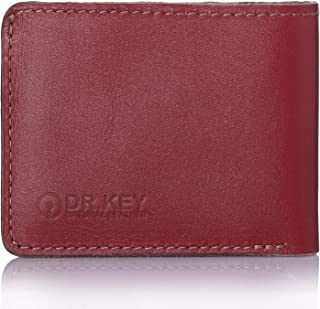 محفظة جلدية مطفأة اللمعة ثنائية الطي للجنسين من شركة دكتور كي - هافان