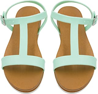 Sara Z Ladies PCU Sandal with Side Buckle