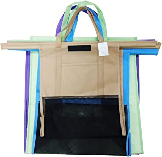 The Trendy House 4 pcs Set Cart Trolley Supermarket Shopping Bag Foldable and Reusable Eco-Friendly With One Large Cooler Bag