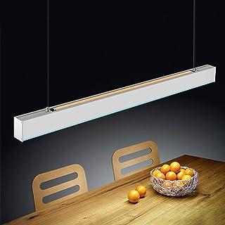 ZMH LED lámpara colgante de oficina 28W 4000K luz natural azul luz atmosférica lámpara de oficina lámpara colgante mesa de comedor luz colgante hecha de aluminio luz colgante para oficina, estudio