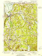 YellowMaps Memphremagog VT topo map, 1:62500 Scale, 15 X 15 Minute, Historical, 1953, Updated 1955, 20.8 x 15.7 in