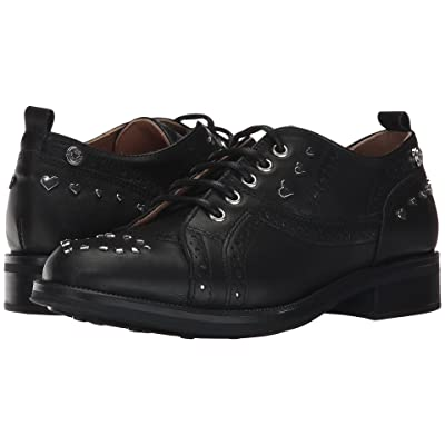 LOVE Moschino Brogue (Black/Silver) Women