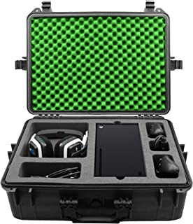 CASEMATIX Hard Shell Travel Case Compatible with Xbox Series X Console, Controllers, Headset and Other Accessories - Water...