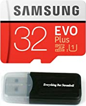 Samsung Evo Plus 32GB MicroSD HC Class 10 UHS-1 Mobile Memory Card for Samsung Galaxy J3 J1 Nxt Ace A9 A7 A5 A3 Tab A 7.0 E 8.0 View On7 On5 Z3 with Everything But Stromboli Memory Card Reader