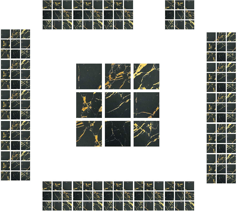 Blu CYJZHEU Copri Piastrelle Cucina Adesive 20 Pezzi Adesivi per Piastrelle Bagno Mosaico Piastrelle Impermeabili 3d Per il Bagno Soggiorno Arte Murale Adesivi Decorazioni per la Casa 10x10cm