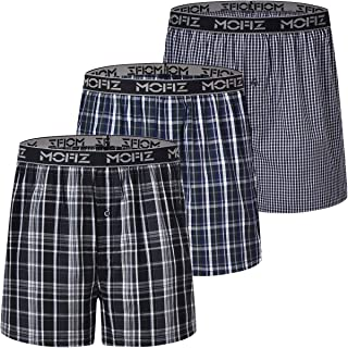 JINSHI Mens Boxer Shorts Boxers with Open Fly Cotton Classic Wear 3-Pack 6-Pack