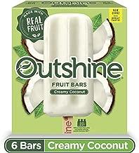 OUTSHINE Coconut Frozen Fruit Bars, 6 Ct. Box   Gluten Free   Non GMO