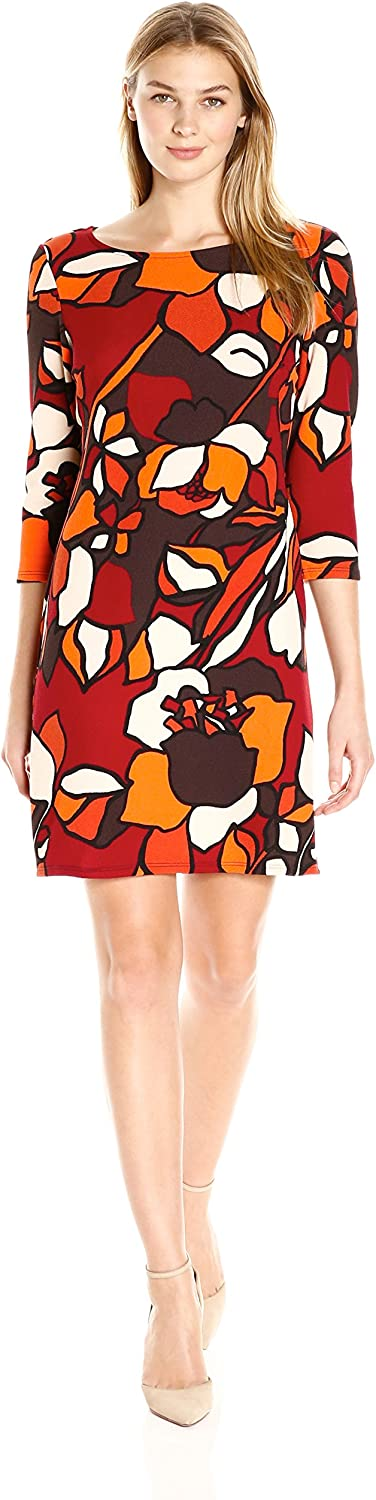 MSK Womens Abstract Shift Casual Dress