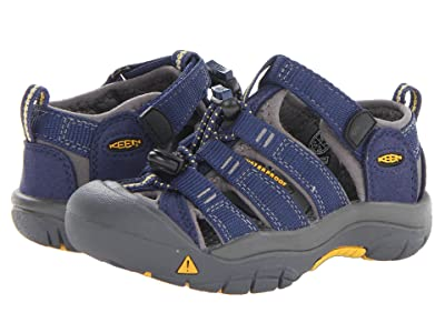 Keen Kids Newport H2 (Toddler/Little Kid) (Blue Depths/Gargoyle) Kids Shoes