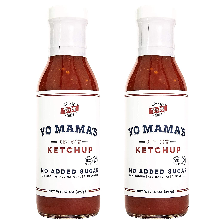 Keto San Jose Mall Spicy Ketchup by Yo Ranking TOP14 Mama's Foods Su – 2 No Pack - of