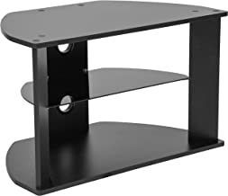Flash Furniture Flash Furniture Northfield Black Finish TV Stand with Glass Shelves