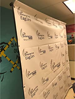 8ft x 10ft Custom Step and Repeat Backdrop Vinyl Banner by Banners Outlet USA