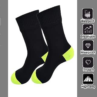 Waterproof Socks for Men & Women- Coolmax Cushion Crew Cycling,  Running,  Hiking Boots Socks,  Black,  X-Large