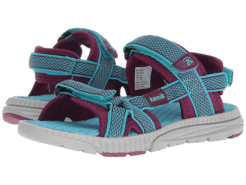 Kamik Kids Match (Toddler/Little Kid/Big Kid) (Teal) Girls Shoes
