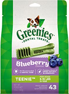 Greenies Blueberry Natural Dental Dog Treats, 12 Oz Packs