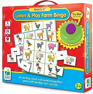The Learning Journey Match It! Listen & Play Bingo, Farm