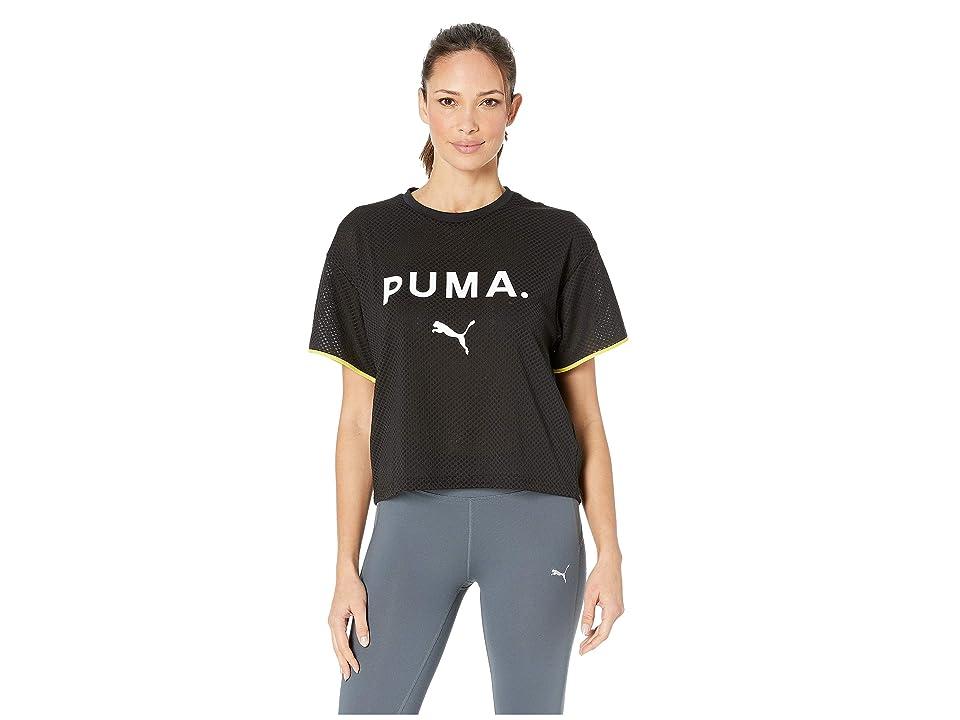 PUMA Chase Mesh Tee (PUMA Black) Women