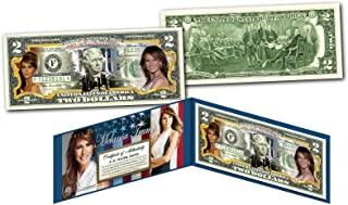 MELANIA TRUMP 45th President FIRST LADY OFFICIAL Legal Tender U.S. $2 Bill w/COA
