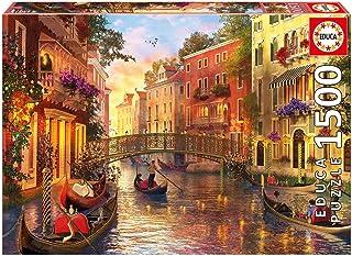 Educa Borrás - Atardecer en Venecia Puzzle, 1500 piezas (17124)