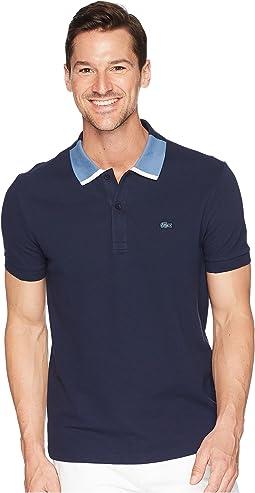 Short Sleeve Petit Pique w/ Color Block Collar Regular