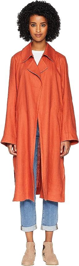 Organic Linen Trench Coat
