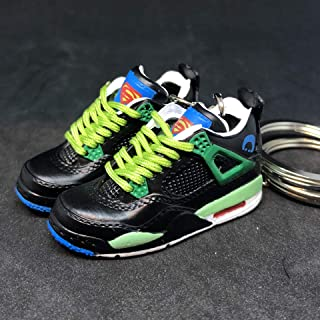 Pair Air Jordan IV 4 Retro DB Doernbecher Superman OG Sneakers Shoes 3D Keychain 1:6 Figure