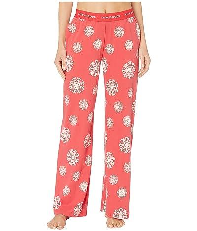 Life is Good Snuggle Up Sleep Pants (Americana Red) Women
