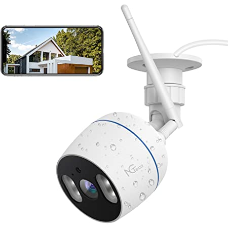 Security Camera Outdoor HJSHI 1080p Wireless WiFi Surveillance Camera with Dual WiFi Antenna Compatible with iOS//Android Two-Way Audio Remote Access Motion Detection Night Vision