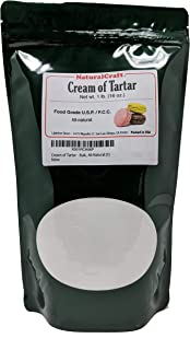 Naturalcraft Cream of Tartar 1 lb (16 oz) - Bulk, Powder, All-Natural, for Baking, Bath Bombs, Slime and More!