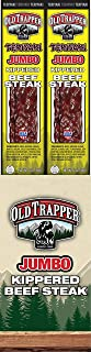 Old Trapper Teriyaki Kippered Beef Steak | Traditional Style Real Wood Smoked Keto Snacks | Healthy Protein Packed Snacks | 2 Ounce (Pack of 12)