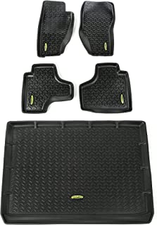 Outland 391298828 Black Front, Rear and Cargo Floor Liner Kit For Select Jeep Liberty Models