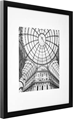 Gallery Perfect 16FW2233 12 Piece Black Square Photo Picture Hanging Template Gallery Wall Frame Set,(12 x 12 inches)