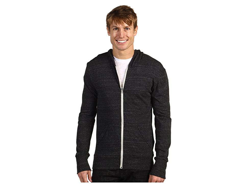 Alternative L/S Zip Hoodie (Eco Black) Men