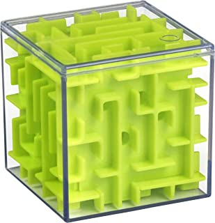 Playkidz 3D Maze Puzzle Cube - Fun Brain Game for Ingenuity Training and Stress Relief - Great for Kids and Adults (Colors May Vary)