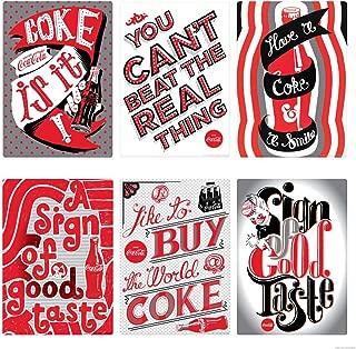 Retro Planet Coke is It Pop Art Slogans Coca-Cola Vinyl Sticker Set of 6