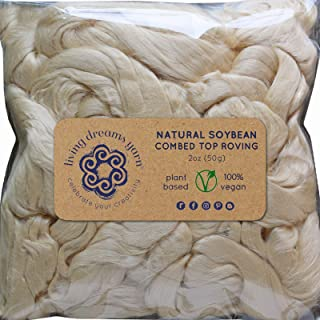 Soybean Fiber for Spinning Blending Dyeing. Super Soft Shiny Vegan Combed Top