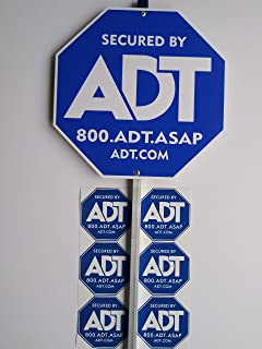 ADT Yard Sign with (6) Window Decals.