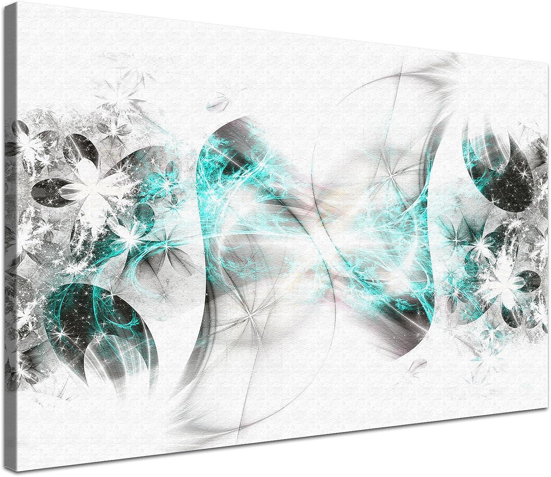 LANA KK - Stars Türkis Türkis Türkis - edel Leinwand Bild Kunstdruck auf Keilrahmen, fertig gerahmt in 60 x 40 cm, einteilig B00HDDAGTC 514e40