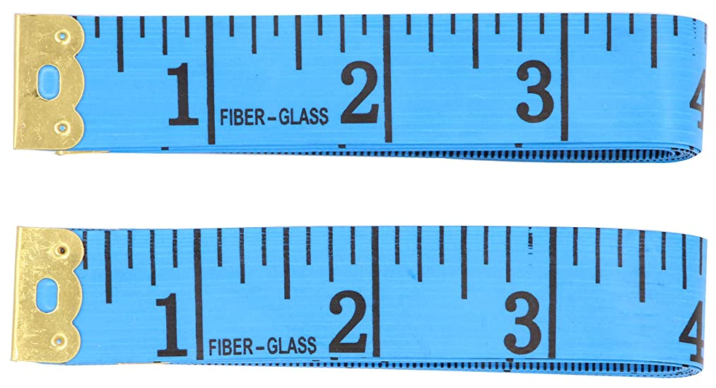 Soft Tape Measure for Sewing - LeBeila 2 Pack Measuring Tape for Body Measurements Flexible Fibre Glass Reverse Side Tailor Cloth Ruler 60