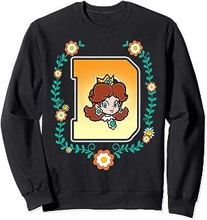 Super Mario Princess Daisy University Letter Portrait Logo Sweatshirt