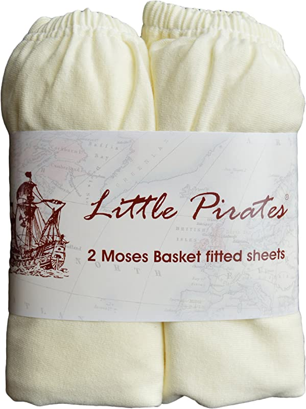 2 Pack Baby Pram Moses Basket Oval Jersey Fitted Sheet 100 Cotton Cream 12 X30 30x75cm