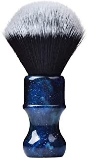 Je&Co Luxury Synthetic Shaving Brush With Aesthetic Resin Handle, 24mm Extra Dense Knot (Blue)