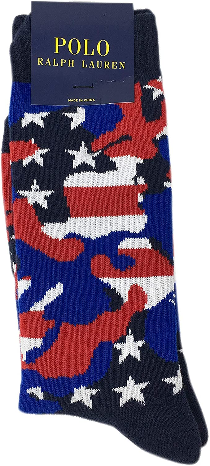 Polo Ralph Lauren Mens Embroidered Mid-Weight Trouser Socks