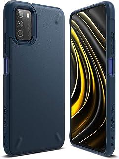 【Ringke】Xiaomi Poco M3 ケース 6.1インチ 対応 ストラップホール タフ スマホケース [米軍MIL規格取得] 柔軟 落下防止 カバー Qi ワイヤレス充電対応 Xiaomi Poco M3 Onyx ケース (Navy)